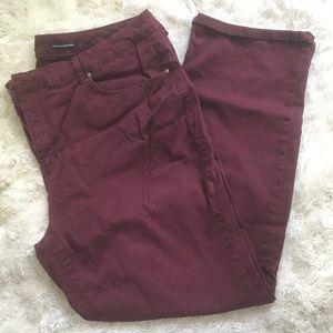 Charter Club Burgundy Jeans